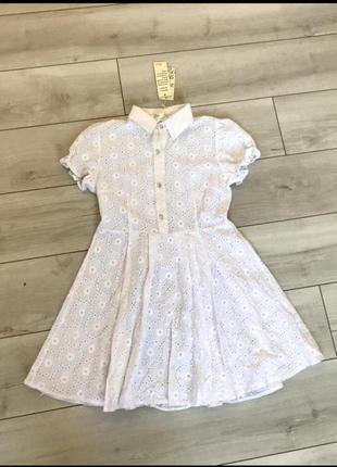 Белое ажурное платьице