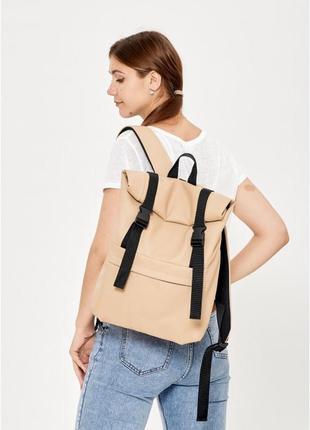 Крутой рюкзак ролл эко кожа. рюкзак эко кожа универсальный