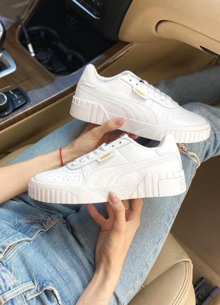 Puma cali white 🍏 стильные женские кроссовки пума
