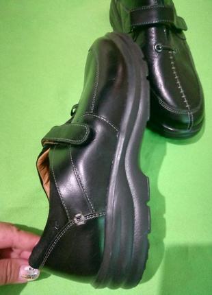 Комфортные кожаные туфли широкая полнота3 фото