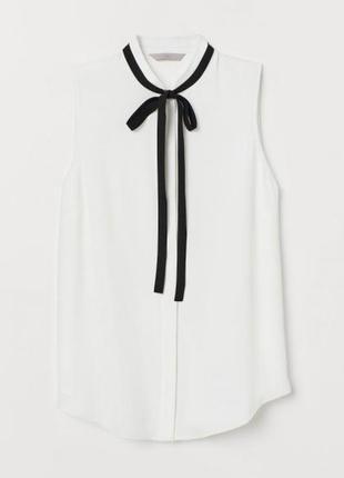 Креповая блузка h&m р.36 165/84а