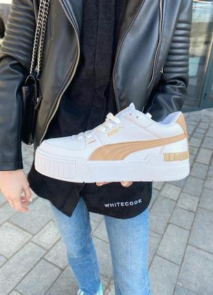Puma cali gold white 🍏 стильные женские кроссовки пума