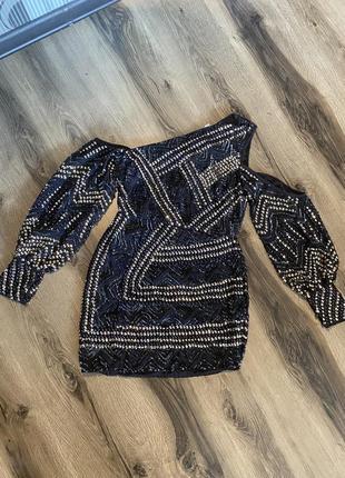 Вечернее платье пайетки