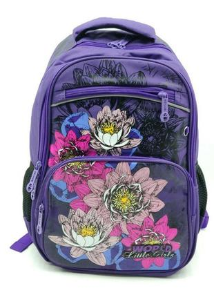 Рюкзак школьный gorangd 28 х 40 х 15 см фиолетовый