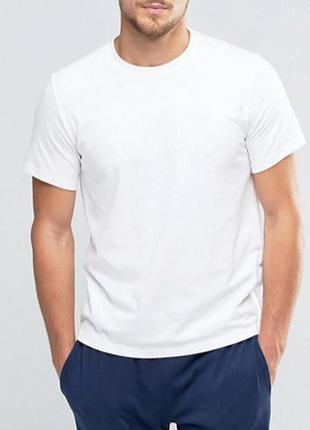 Белая футболка базовая однотонная 100% хлопок размеры