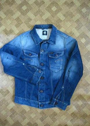 Джинсовая куртка пиджак жакет блейзер g-star raw ☕ размер м