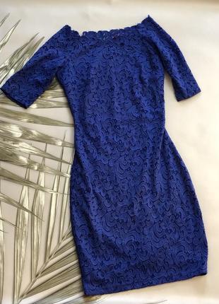 Кружевное ажурное платье