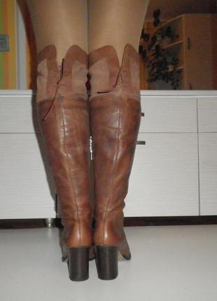 Высокие кожаные сапоги ботфорты бразилия