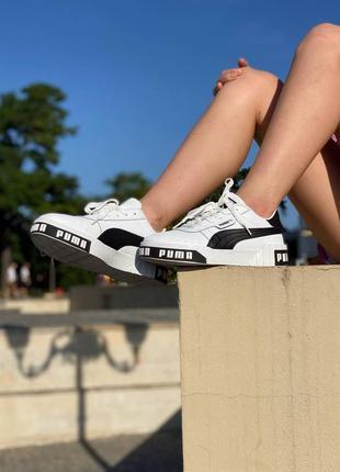 Женские кроссовки puma cali white/black