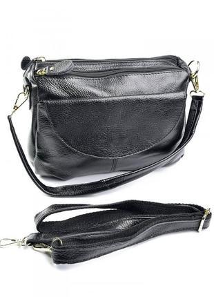 Женская кожаная сумка клатч кожаный женский на плечо жіноча шкіряна сумочка