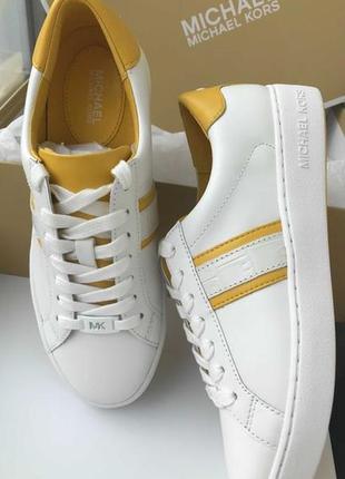 Белые кроссовки michael kors, кеды майкл корс