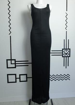 Тонкий сарафан майка платье в рубчик в стиле rick owens