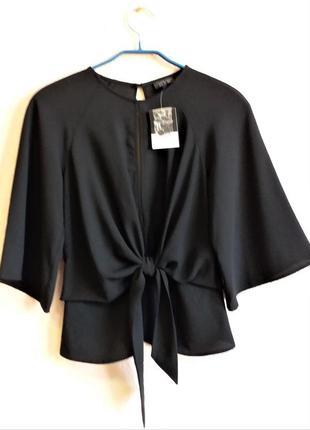 Блузка с открытой спиной topshop