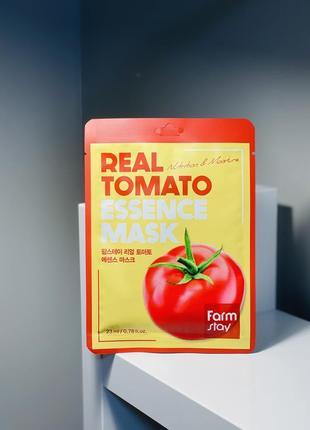 Увлажняющая маска для лица с экстрактом томата farmstay real tomato essence mask