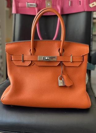 Сумка hermès birkin 30 orange