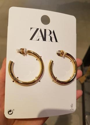 Сережки-кільця, zara! оригінал, з португалії!