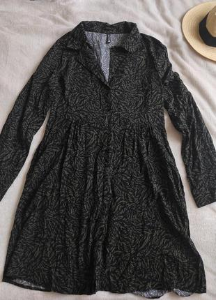 Платье рубашка на пуговицах вискоза