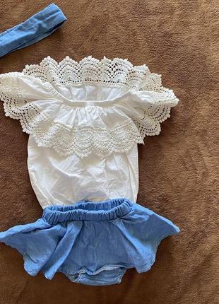 Нарядный костюмчик для малышки