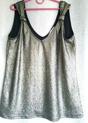 Новая женская летняя блуза. нарядная вечерняя серебристая блузка. пляжная туника, майка, накидка.