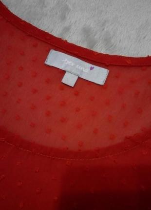 Коралловая блузка с майкой короткий рукав вышивка плюмети р 14-16 per una marks&spencer