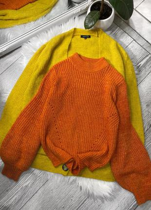 Шикарный свитер с объёмным рукавом