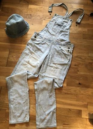 Комбинезон джинсовый женский оверсайз.