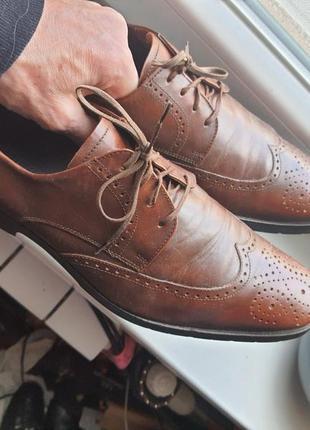 Туфли ручная работа kampgen hand made германия, кожа 41,5 р.
