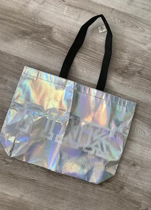 Пляжна сумка pink victoria's secret