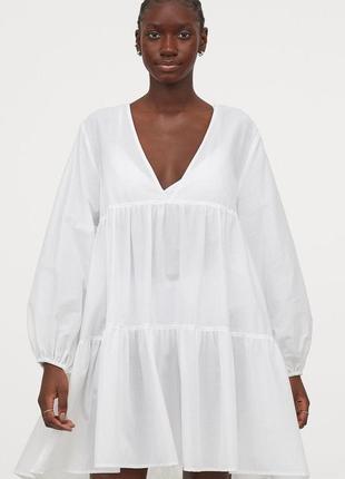 H&m пляжное платье легкое летнее короткое плаття zara