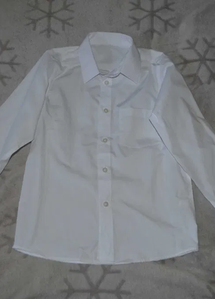 Новая белая рубашка мальчику tu 8 лет рост 128 англия