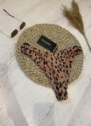 Высокие плавки в леопардовый принт prettylittlething. низ от купальника