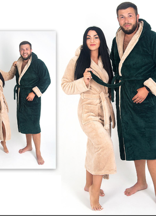 Парные халаты махровые (мужской и женский ) 2шт