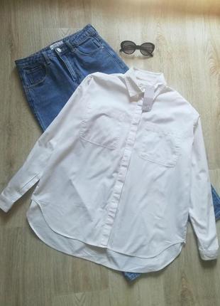 Натуральная рубашка свободного кроя, блузка свободного кроя, рубашка оверсайз с карманами, сорочка, рубашка бойфренд, пляжная рубашка туника
