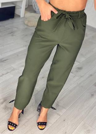 Модные легкие брюки бананы