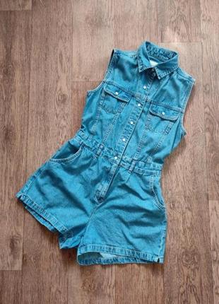 Комбинезон джинсовый шортами