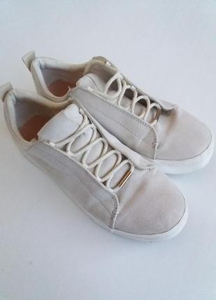 Кеды нsм криперы женские белые (кремовые) слипоны кроссовки кросовки
