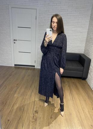 Платье миди zara вискоза