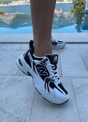 Женские кроссовки new balance 530 white/ black