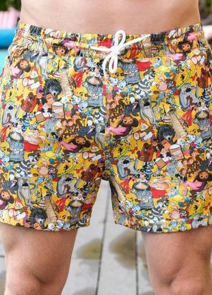 Шорти pobedov swimming shorts pool day multiki srsr