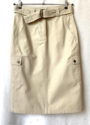 Плотная коттоновая юбка в стиле сафари, casablanca