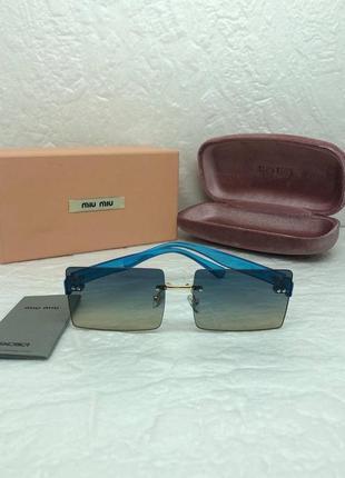 Женские солнцезащитные очки в стиле miu miu🔥lux качество