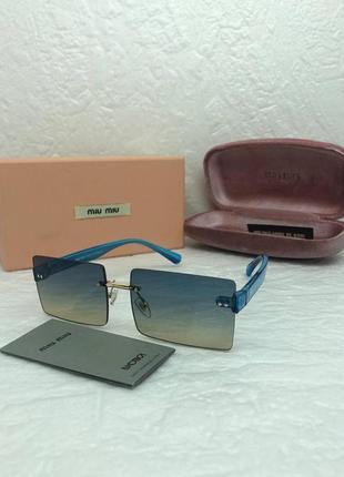 Женские солнцезащитные очки в стиле miu miu🔥lux качество2 фото