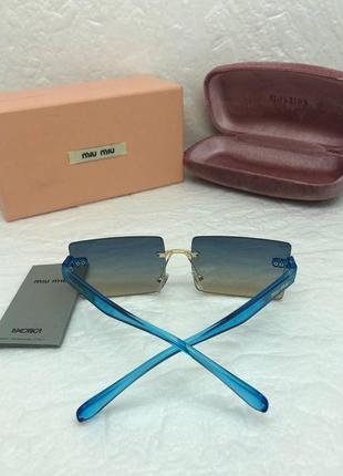 Женские солнцезащитные очки в стиле miu miu🔥lux качество3 фото