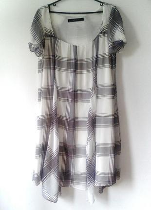 Шифоновое платье с асиметричным кроем, размер: 38 / m / 46