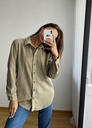 Трендова вельветова сорочка h&m