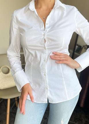 Белая рубашка, блуза  hugo boss