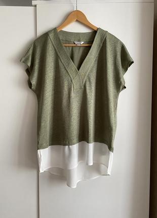Шикарная льняная блуза 100% лён дорого бренда