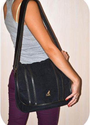 Вместительная вельветовая сумка kangol