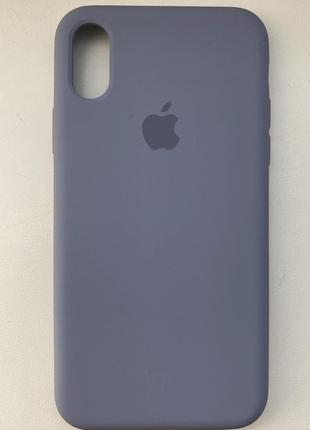 Чехол на айфон x с закрытым низом silicone full case