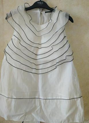 Летняя блуза sisley 100% шелк
